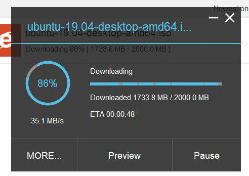 Xtreme Download Manager speeds 2