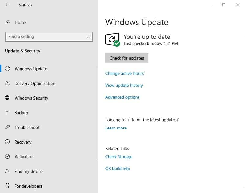 clean install of Windows 10