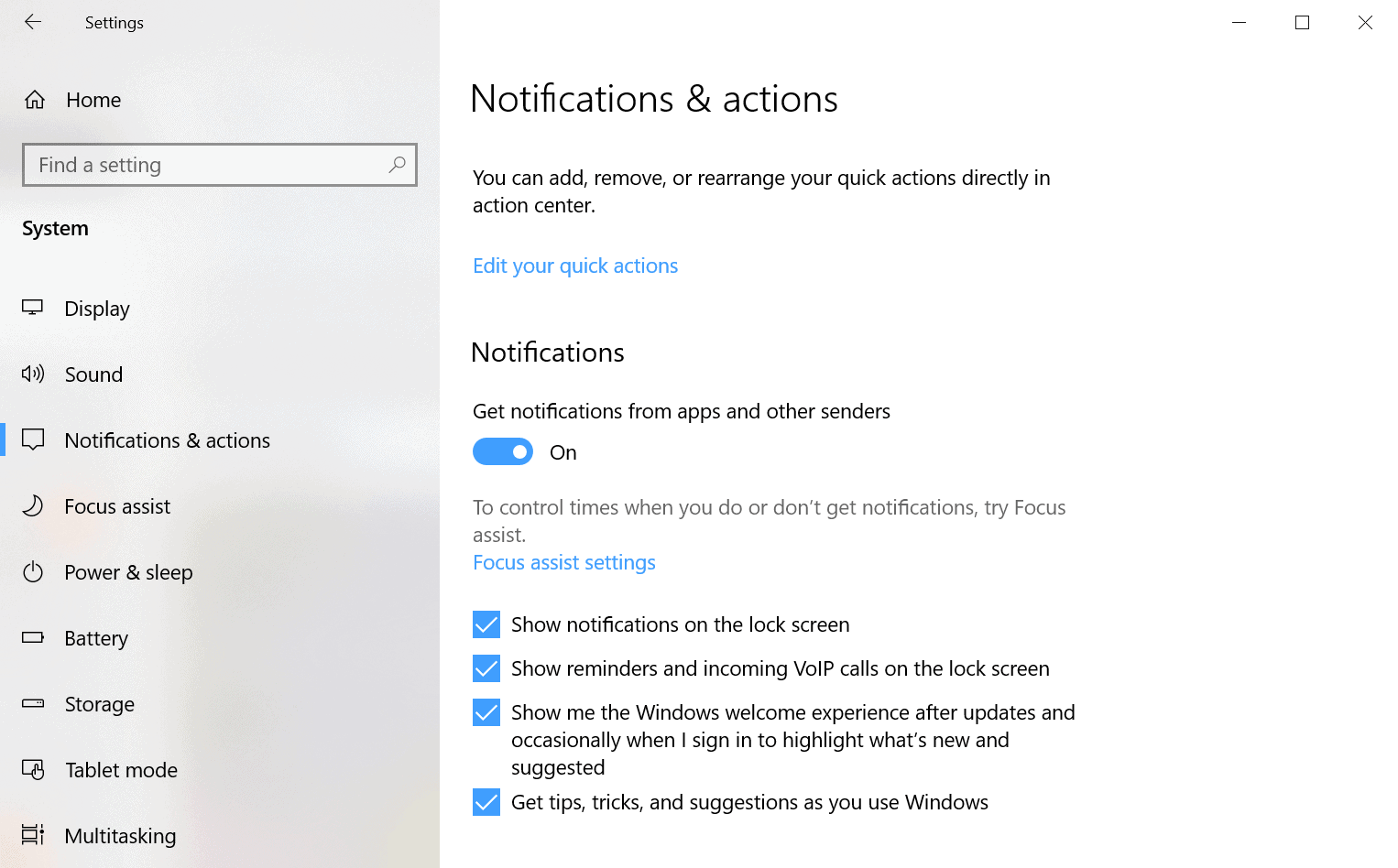 disable experience windows 10