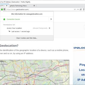 firefox geolocation last access