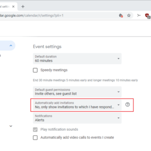 google calendar disable auto invites