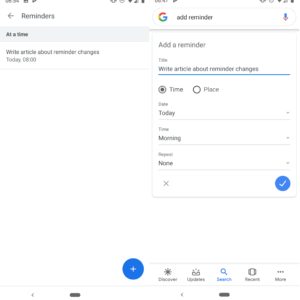google reminders assistant android