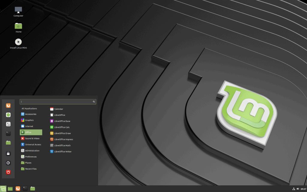 linux mint 19.2 desktop