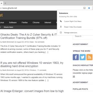 microsoft edge extensions menu
