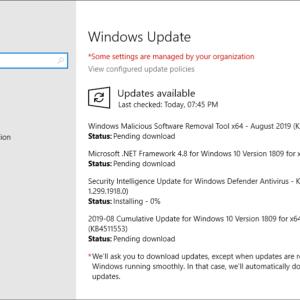 microsoft windows security updates august 2019