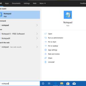 notepad microsoft store windows 10