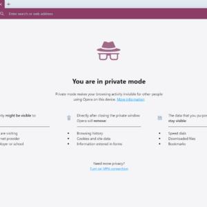 opera 63.0 private mode