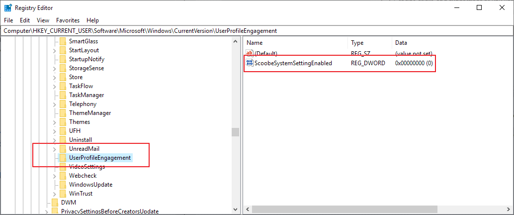 registry turn off get more out of windows