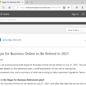 skype for-business online retire