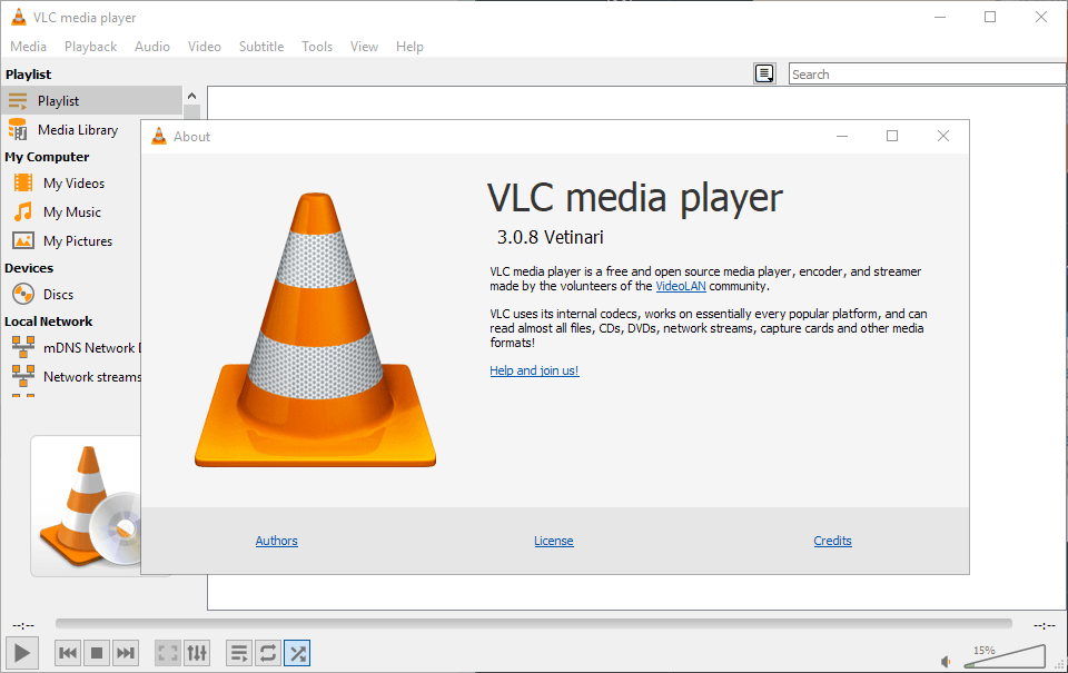 VLC Media Player 3.0.8 is a security update