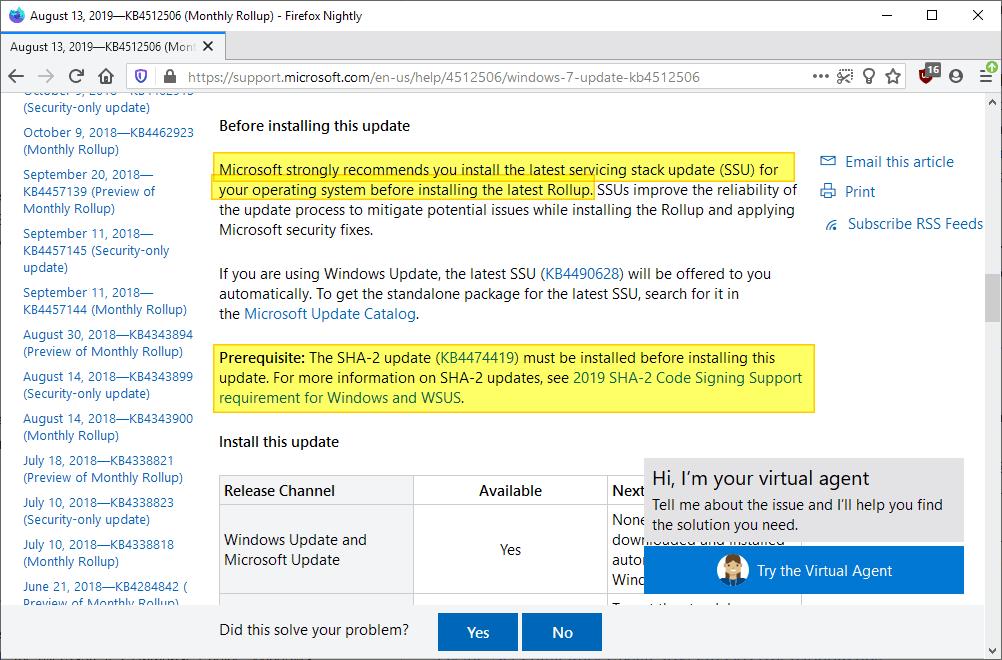 error updating windows 7