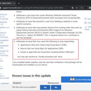 windows visual basic issue fix
