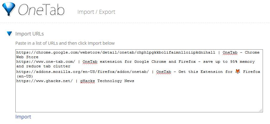 How to import tabs from Chrome to Firefox and vice versa