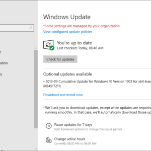 KB4517211 windows 10 1903 september 2019