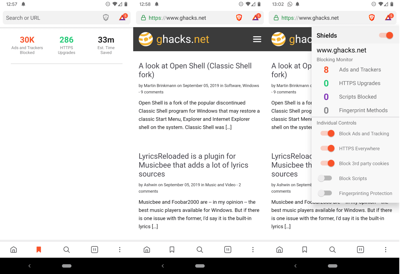 brave browser android first look