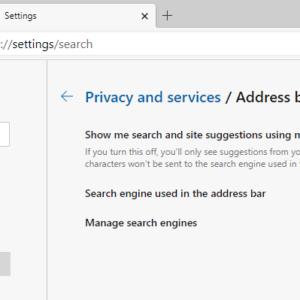change search engine microsoft edge chromium