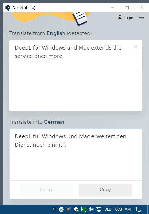 deepl translate windows