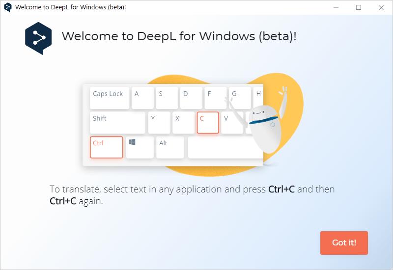 deepl translator windows beta