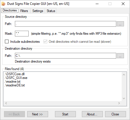 file copier interface
