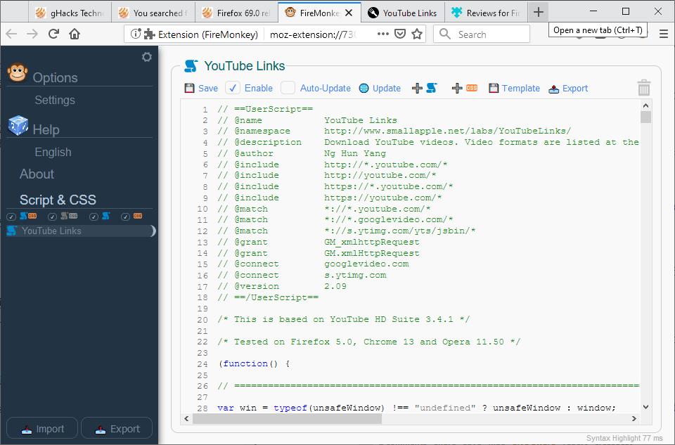 firefox firemonkey userscripts