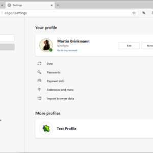 microsoft edge multiple profiles