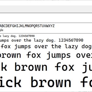microsoft font cascadia code