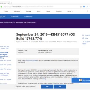 windows10 updates september 2019