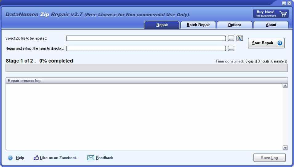 DataNumen Zip Repair is a freeware ZIP archive repair and recovery tool