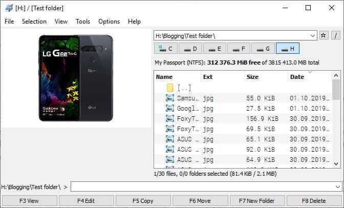 File Commander image viewer