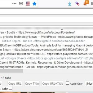 Find tabs quickly with the Tabhunter extension for Firefox and Chrome