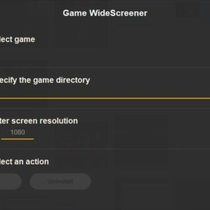 Game Widescreener interface