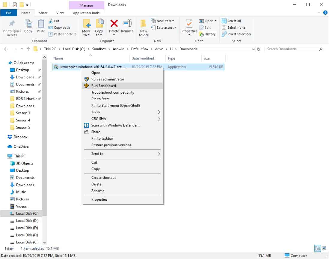 How to use Sandboxie installing programs 2