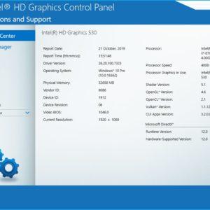 Intel Graphics Drivers for Windows 10 1909 info
