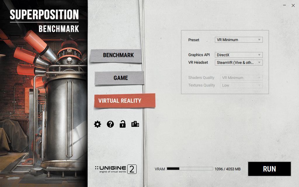 Superposition VR benchmark
