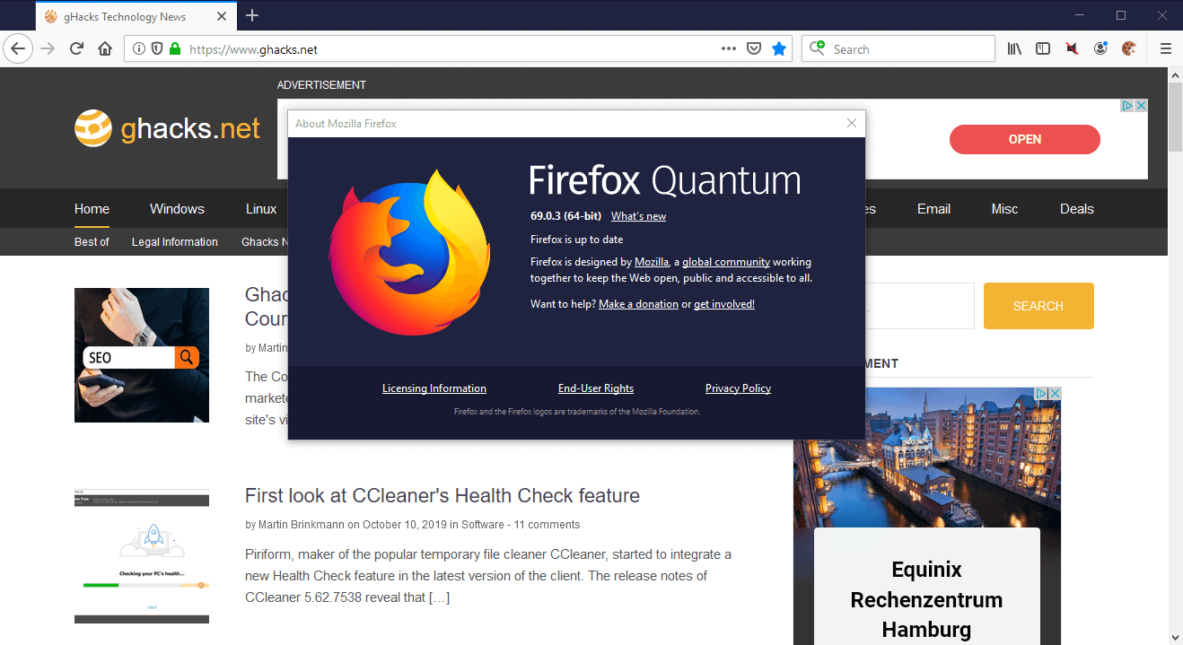 Firefox 69.0.3 fixes download issues