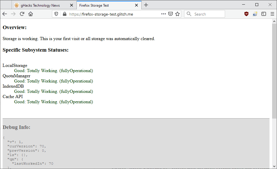 firefox 70 load issue