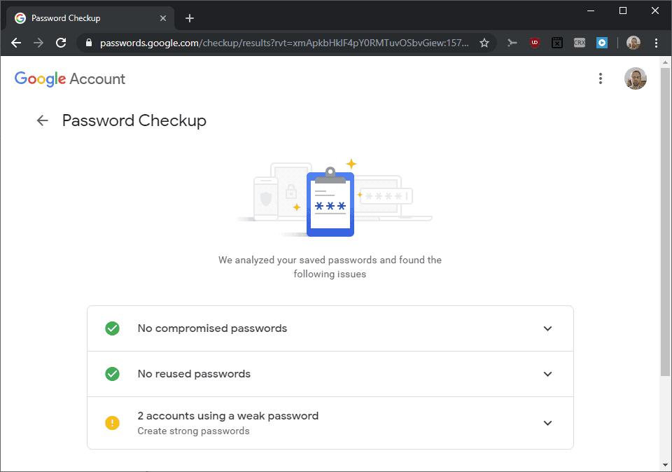 password check compromised weak