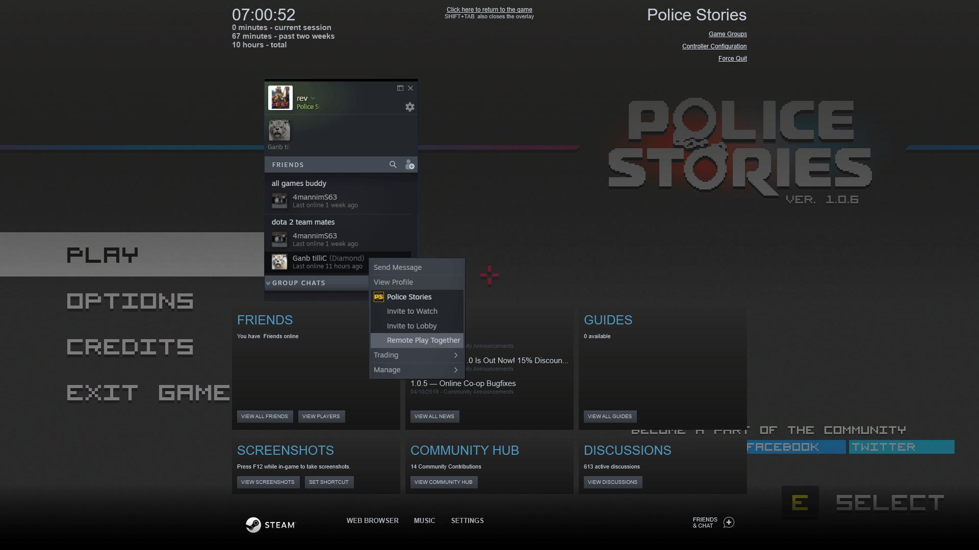 steam remote play invite players