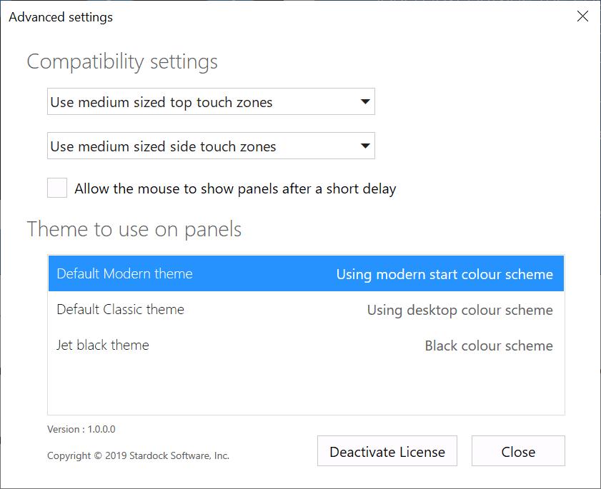 touchtasks options
