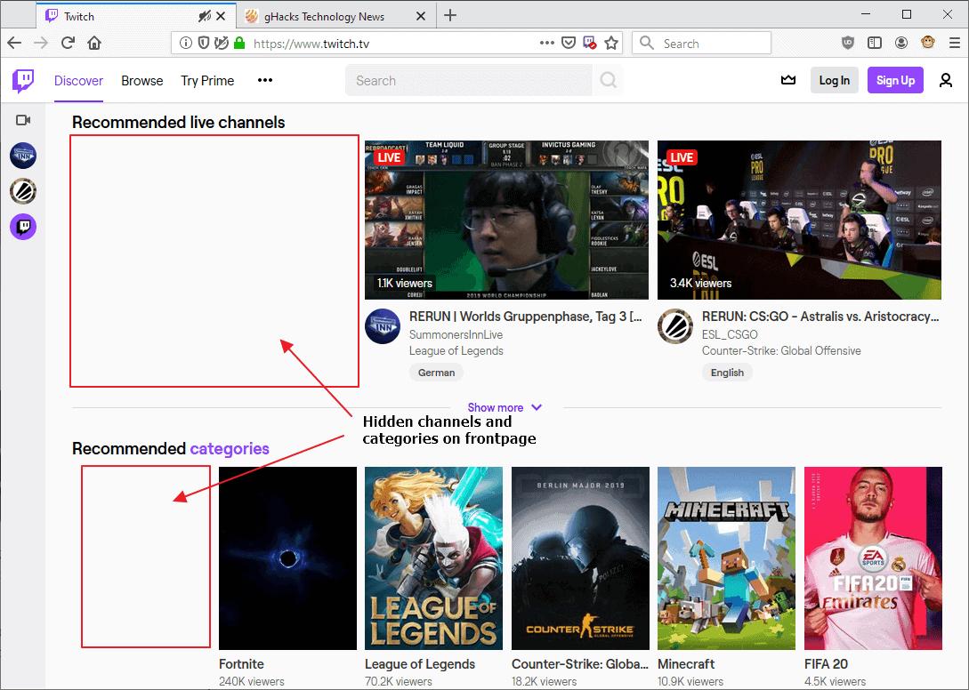 twitch hide channels
