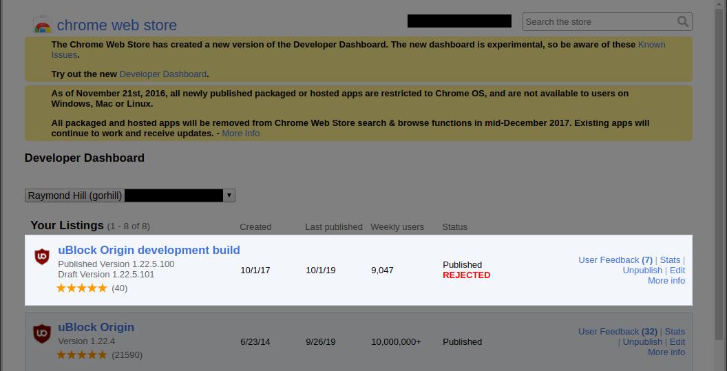 ublock origin rejected