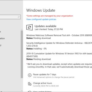 windows security updates october 2019
