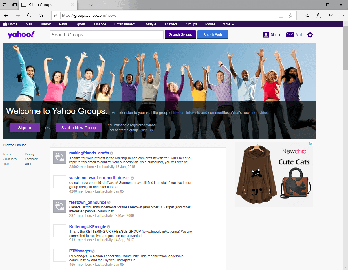 Yahoo's forgotten site Groups will permanently remove content by year's end