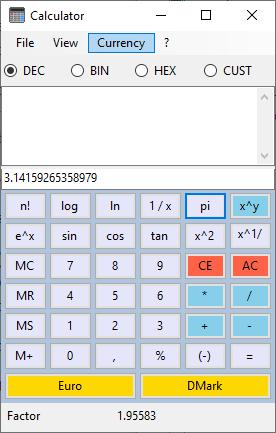 Alternate Tools Calculator