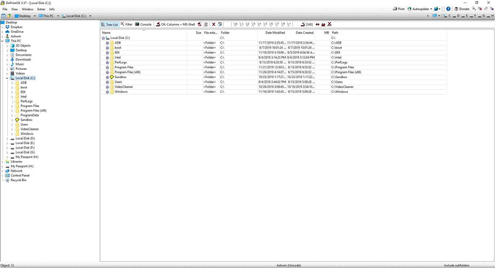 DirPrintOK is a freeware directory printing program from the developer of Q-Dir