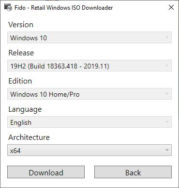 Fido is a PowerShell Script which you can used to download Windows ISO images