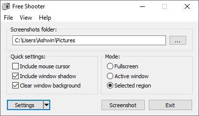 Free Shooter screenshot tool