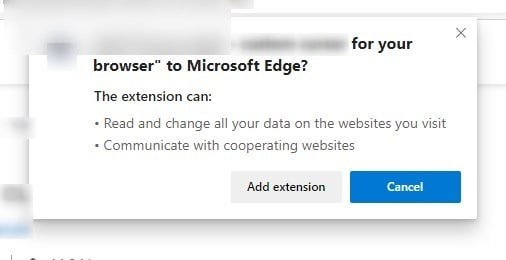 Google Chrome extension permissions