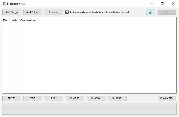 HashTools is a freeware file hashing tool for Windows