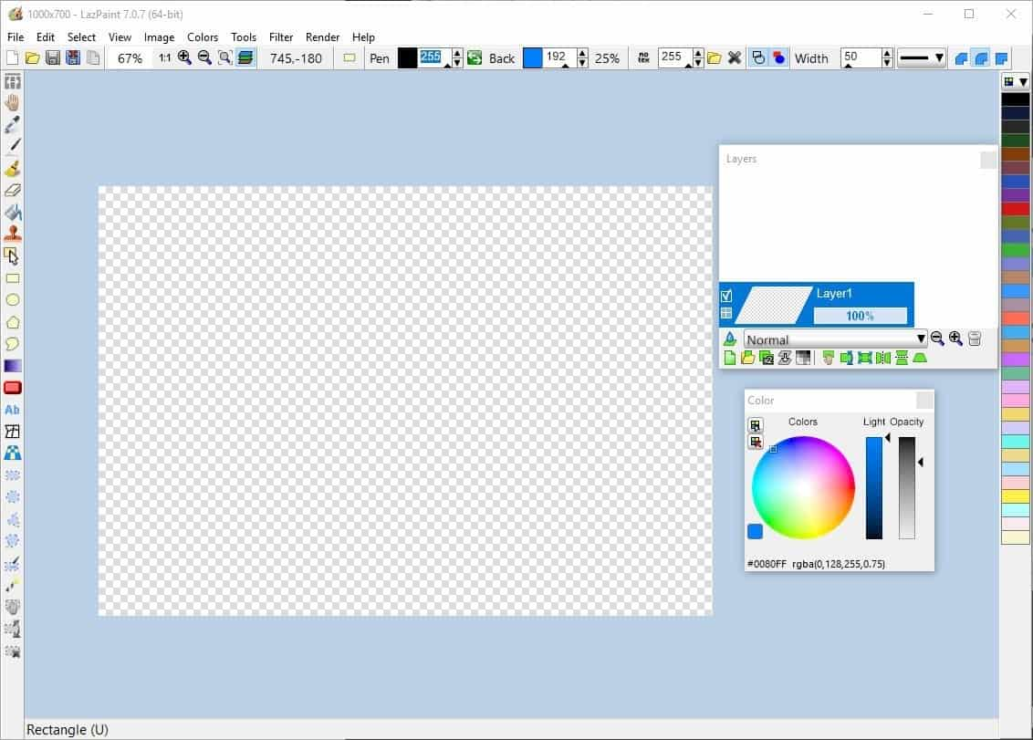 LazPaint is an open source raster graphics editor for Windows, macOS and Linux